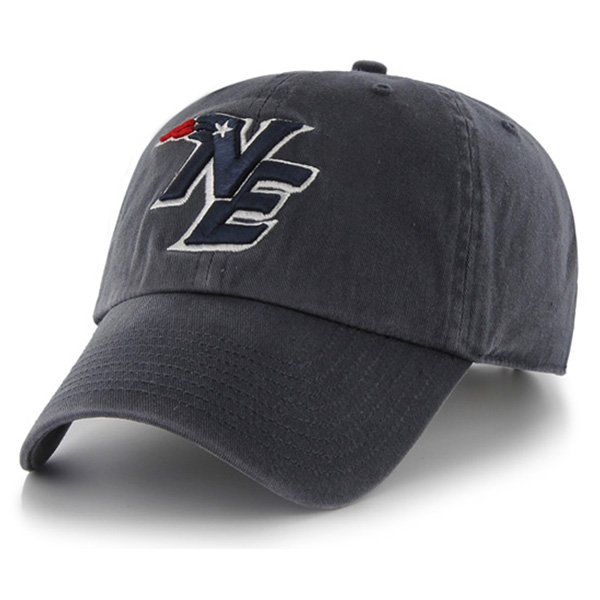 NE Logo '47 Brand Clean Up Cap-Navy