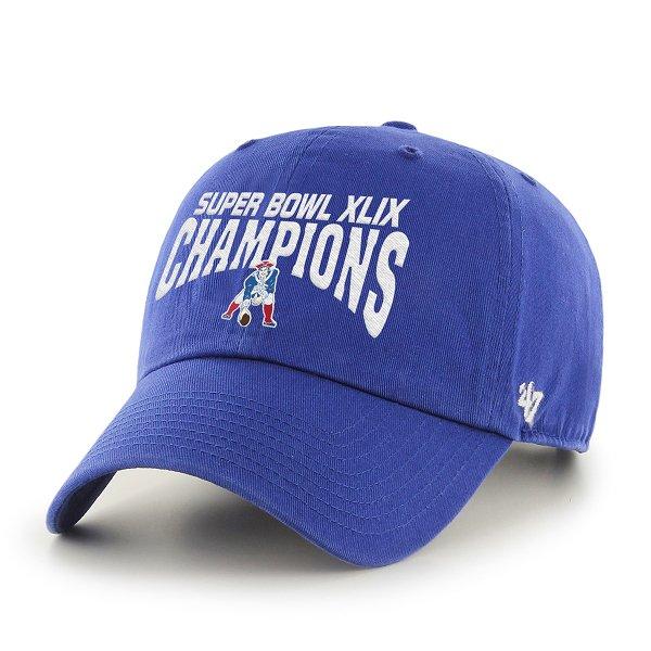 '47 Brand Super Bowl XLIX Champions Throwback Cap-Royal