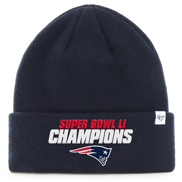 '47 Super Bowl LI Champions Cuffed Knit Hat-Navy