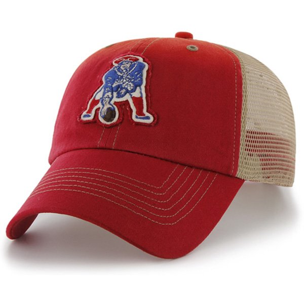 Throwback '47 Brand Mongoose Red Snap Back Mesh Cap