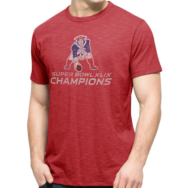 '47 Brand Throwback Super Bowl Champions Tee-Red