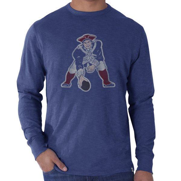 '47 Brand Throwback Long Sleeve Scrum Tee-Blue