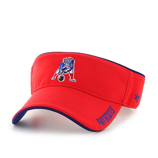 Throwback '47 Brand Top Rope Visor-Red/Royal