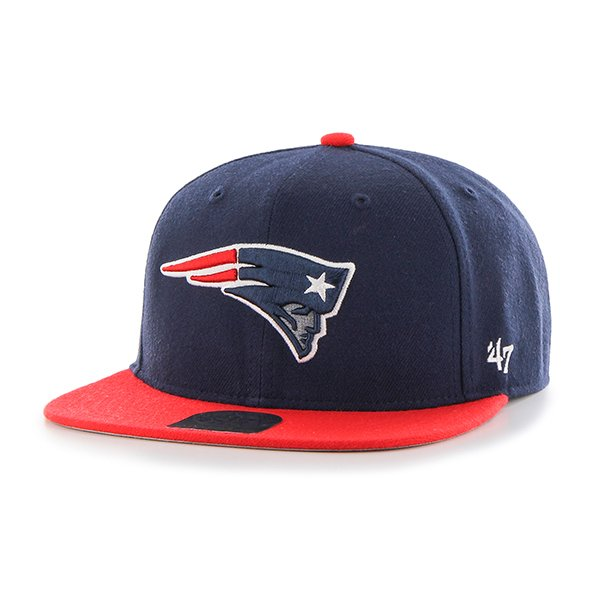 Youth Lil Shot Flat Brim Cap-Navy/Red