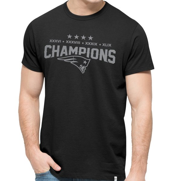 '47 4 Time Champs Tee-Black