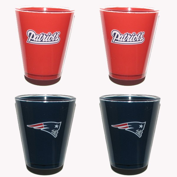 Patriots 4pk Acrylic Shotglass Set