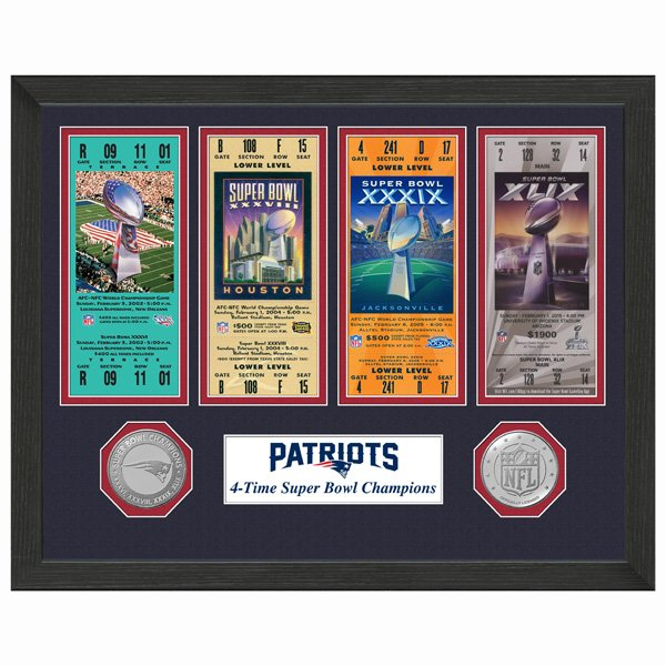 4 Time Super Bowl Champion Ticket/Coin Frame