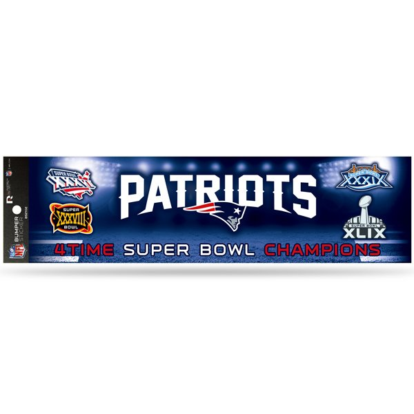 4X Super bowl Champions  Bumper Sticker