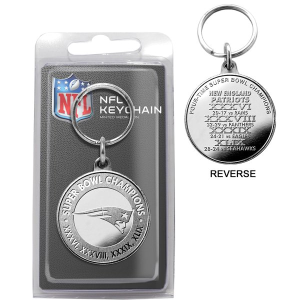4-Time Super Bowl Champions Coin Keychain