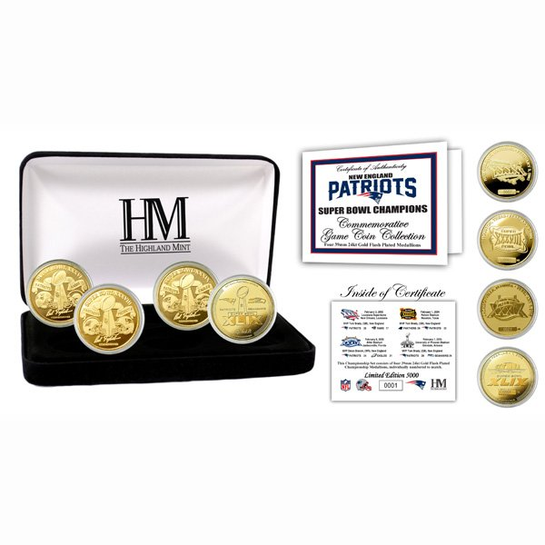 4-Time Super Bowl Champion Gold Coin Set
