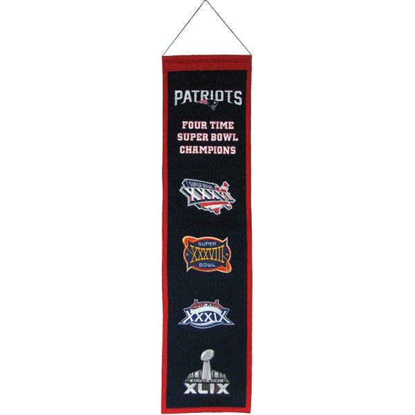 4 Time Super Bowl Champions Heritage Banner