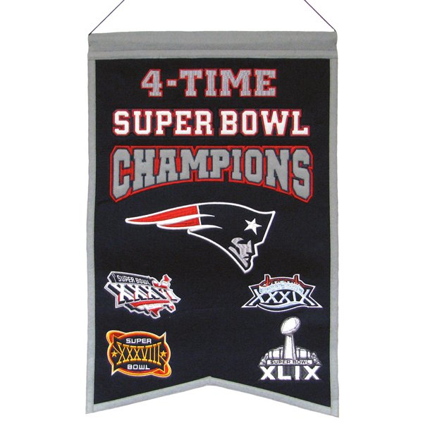 4 Time Super Bowl Champions Banner