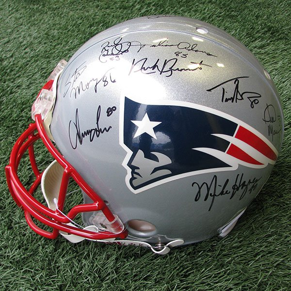 Patriots 50th Anniversary Team Autographed Authentic Helmet