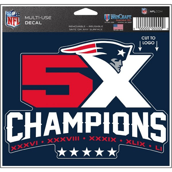 5X Champs Multi Use Decal
