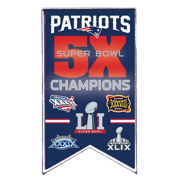 5X Champs Banner Pin