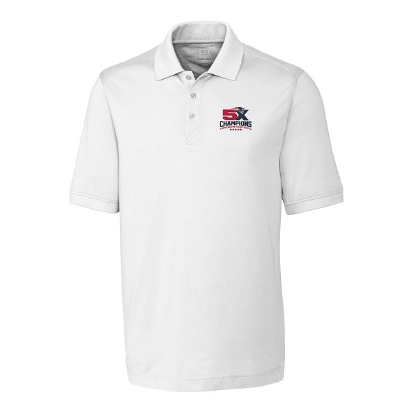 5X Champs Cutter & Buck Advantage Polo-White