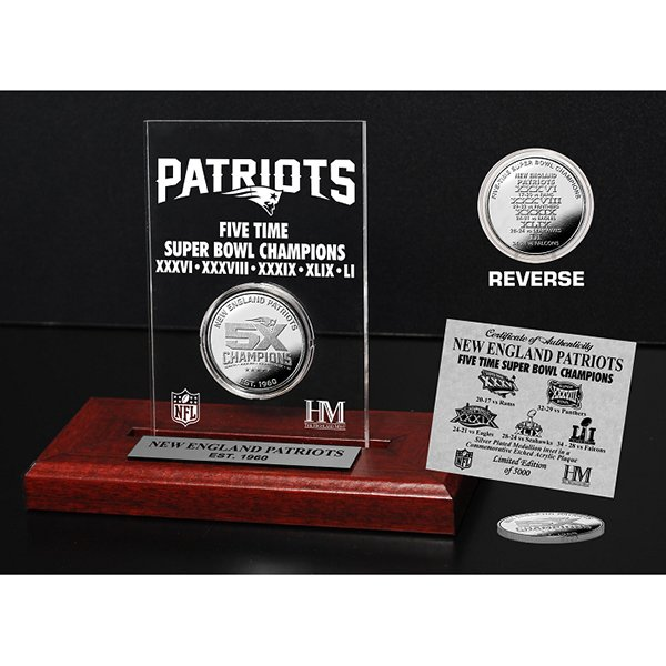 5X Champions Silver Coin Lucite/Stand