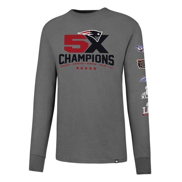 5X Champs Crosstown Long Sleeve Tee-Gray