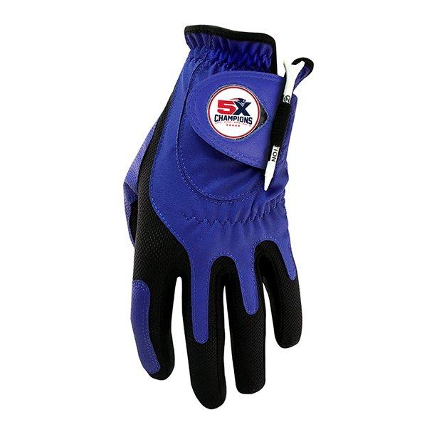 5X Champs Golf Glove-Blue