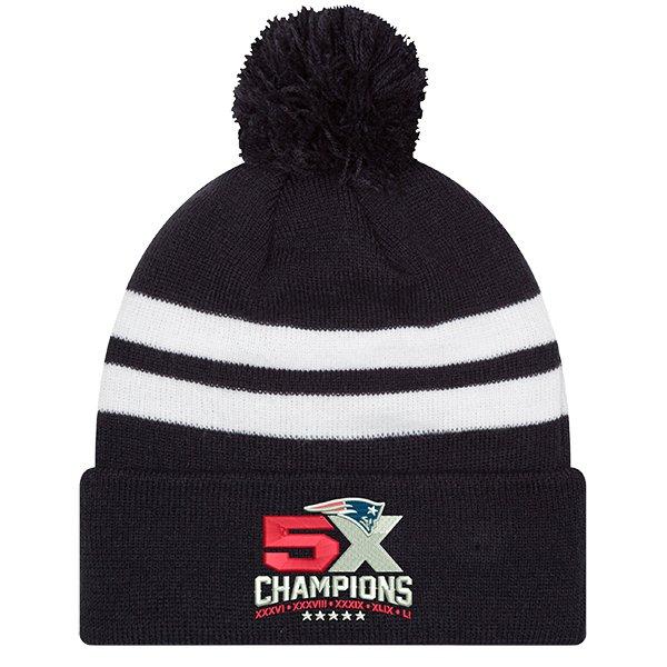 5X Champions Pom Knit-Navy/White