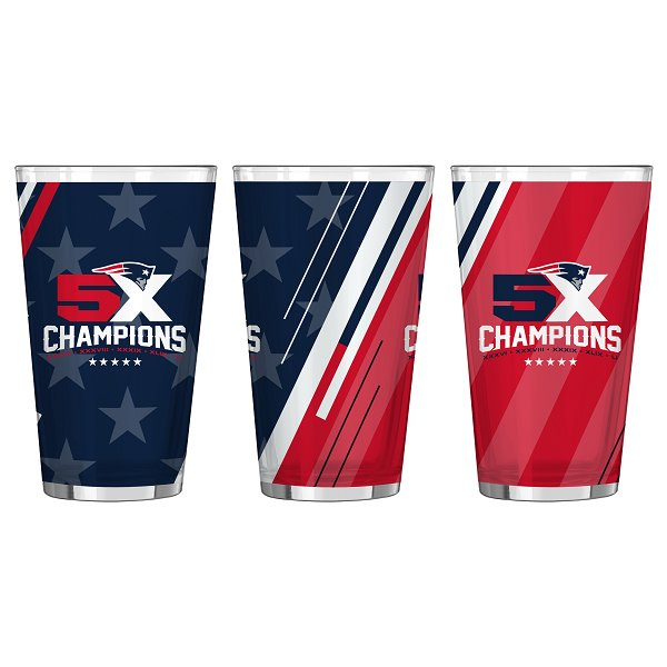 5X Champs 16oz Pint Glass