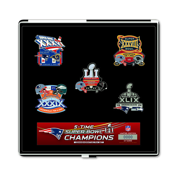 5X Champs 5pc Pin Set