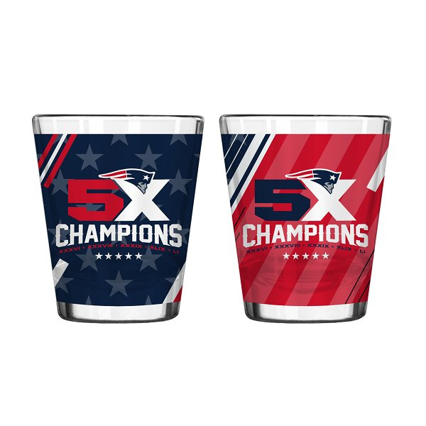 5X Champs 2oz Shot Glass