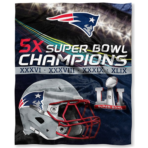 5X Champs Silk Touch 50x60 Blanket