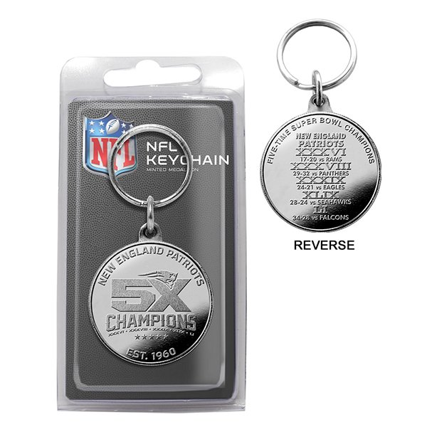5X Champions Silver Coin Key Chain