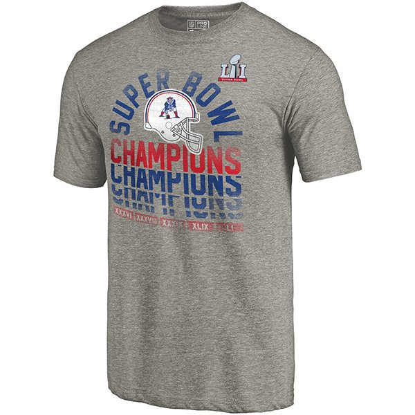 5X Champs Throwback Triblend Tee-Gray