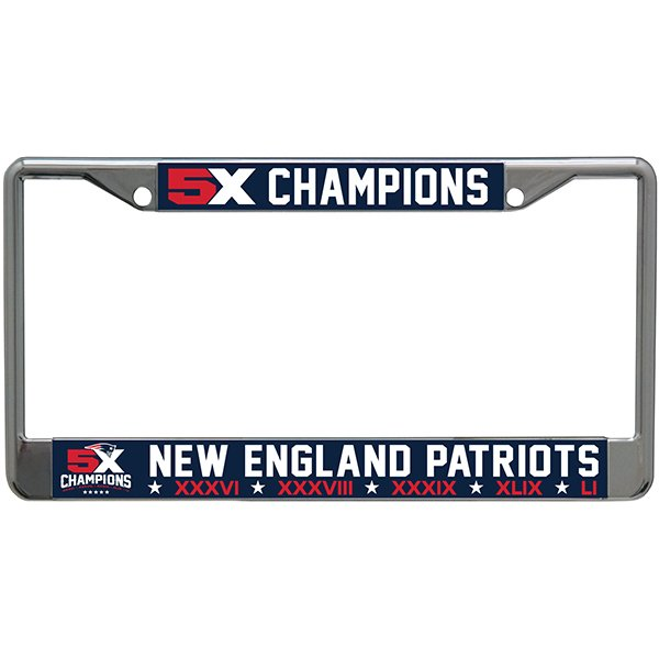 5X Champs License Plate Frame