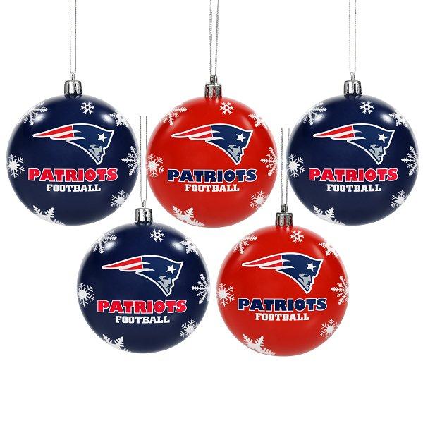 Patriots 5pk Bulb Ornament Set