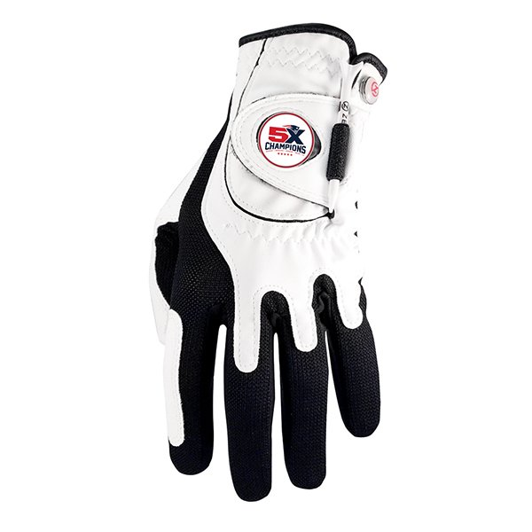 5X Champs Golf Glove-White