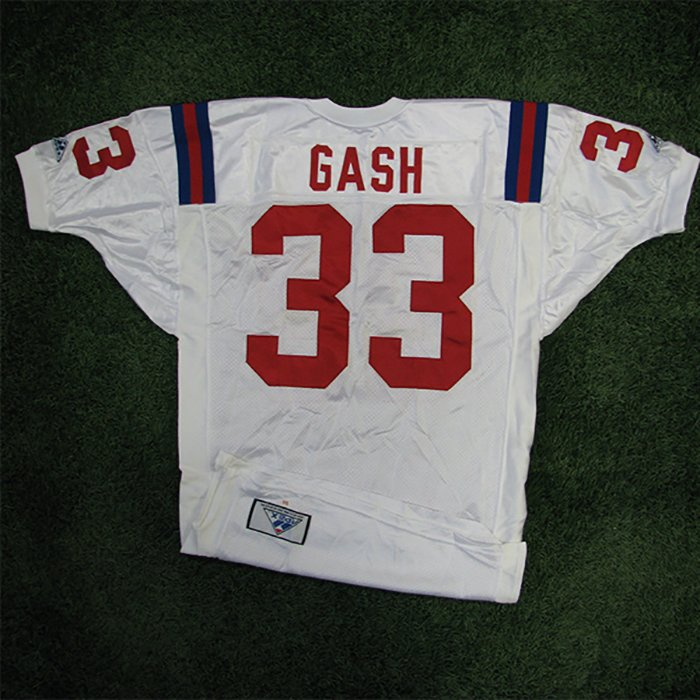 1994 Sam Gash Team Issued #33 White Jersey w/75th Patch