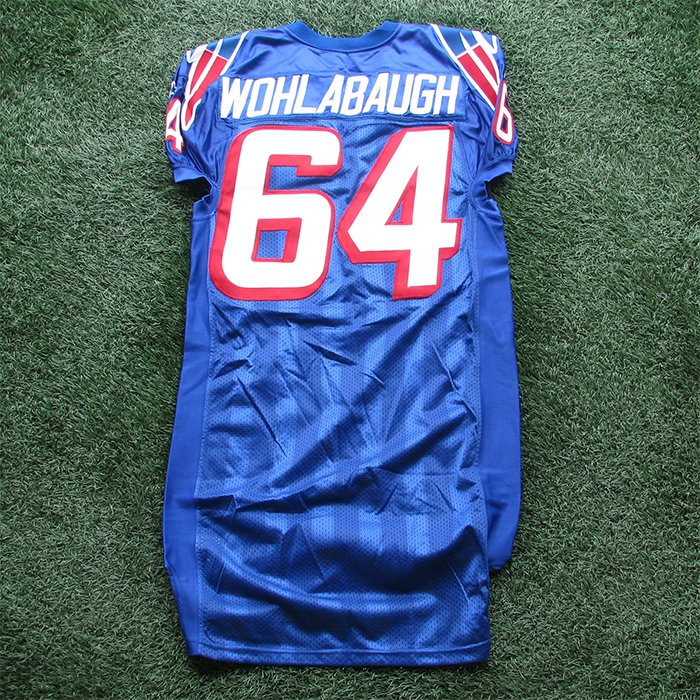 1997 Dave Wohlabaugh Team Issued #64 Royal Jersey