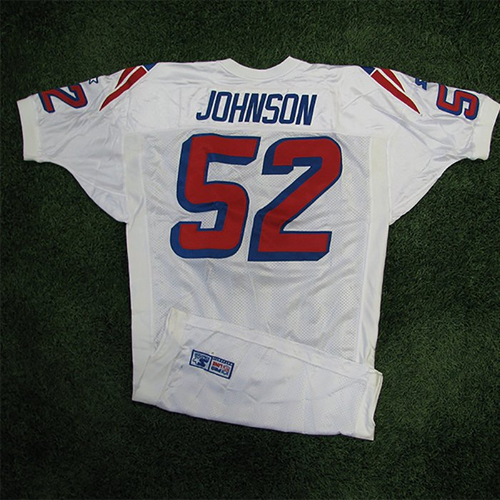 1998 Ted Johnson Team Issued #52 White Jersey
