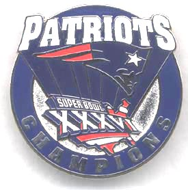 Super Bowl 36 Champs Pin