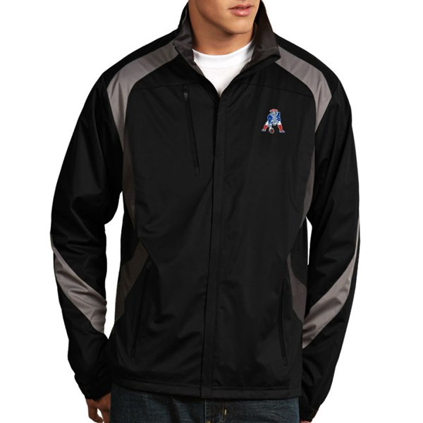 Antigua Throwback Tempest Full Zip Jacket-Black