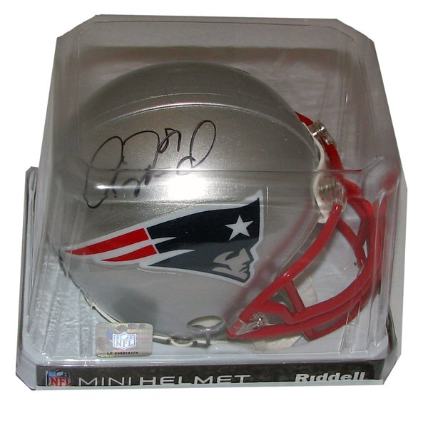 Aaron Hernandez Signed Mini Helmet
