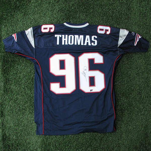 Autographed Adalius Thomas Authentic Jersey-Navy