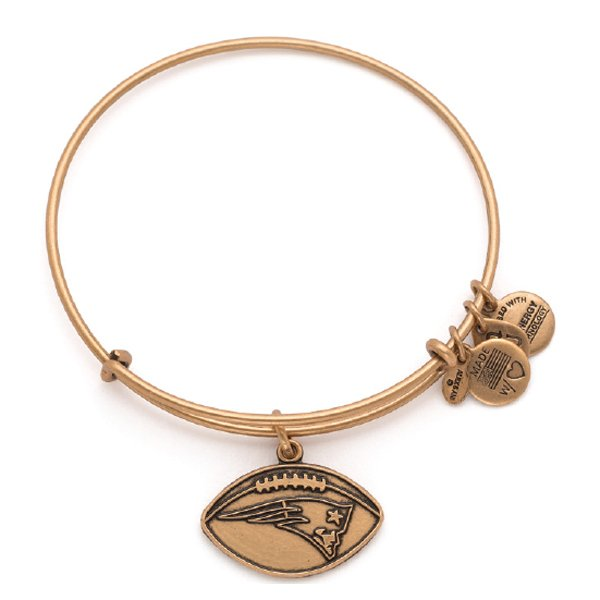 Alex and Ani Football Bangle-Rafaelian Gold Finish