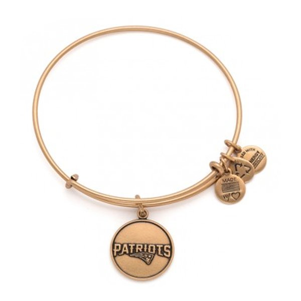 Alex and Ani Wordmark Logo Bangle-Rafaelian Gold Finish