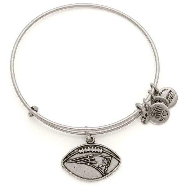 Alex and Ani Football Bangle-Rafaelian Silver Finish