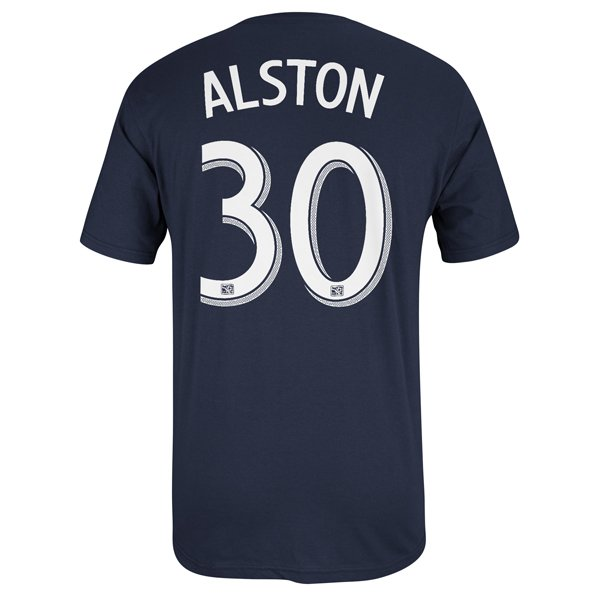 Alston #30 Name & Number Tee-Navy