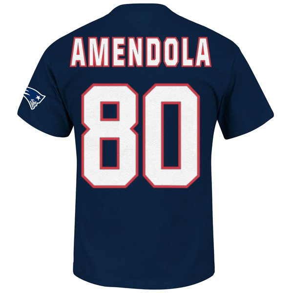 Danny Amendola #80 Name & Number Tee-Navy