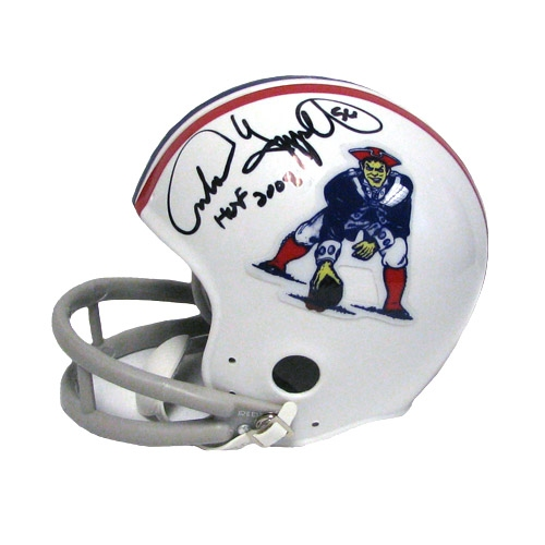Andre Tippett Autographed Mini Helmet