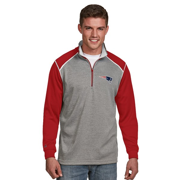 Antigua Breakdown 1/2 Zip Top-Gray/Red/White