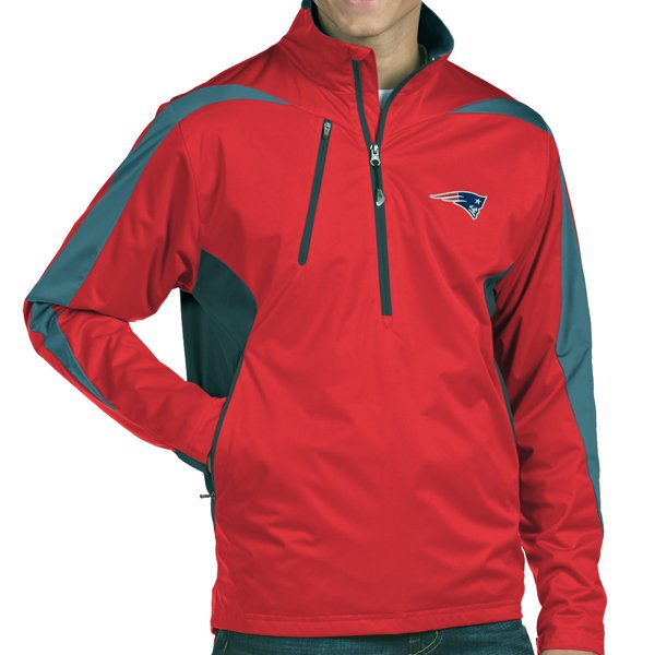 Antigua Discover 1/2 Zip Jacket-Red