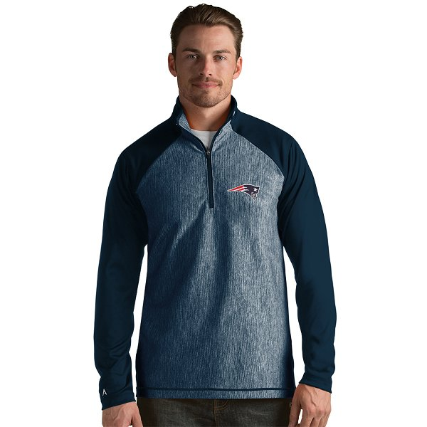 Antigua Play Maker 1/2 Zip Pullover Jacket-Navy