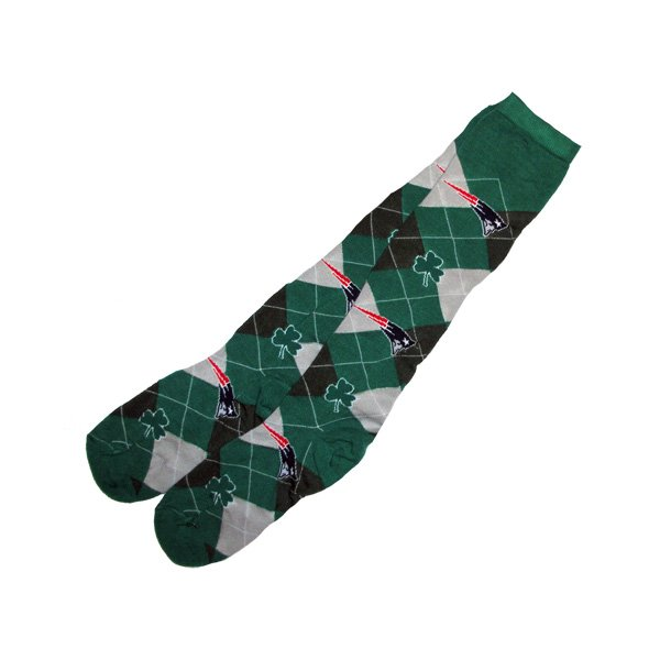 Shamrock Argyle Socks-Green